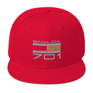 FLAG EMBROIDERED SNAPBACK HAT