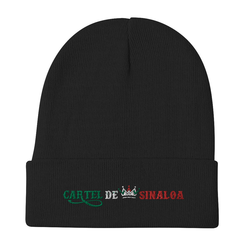 CARTEL DE SINALOA EMBROIDERED BEANIE HAT