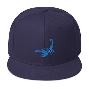 BLUE SCORPION SNAPBACK HAT