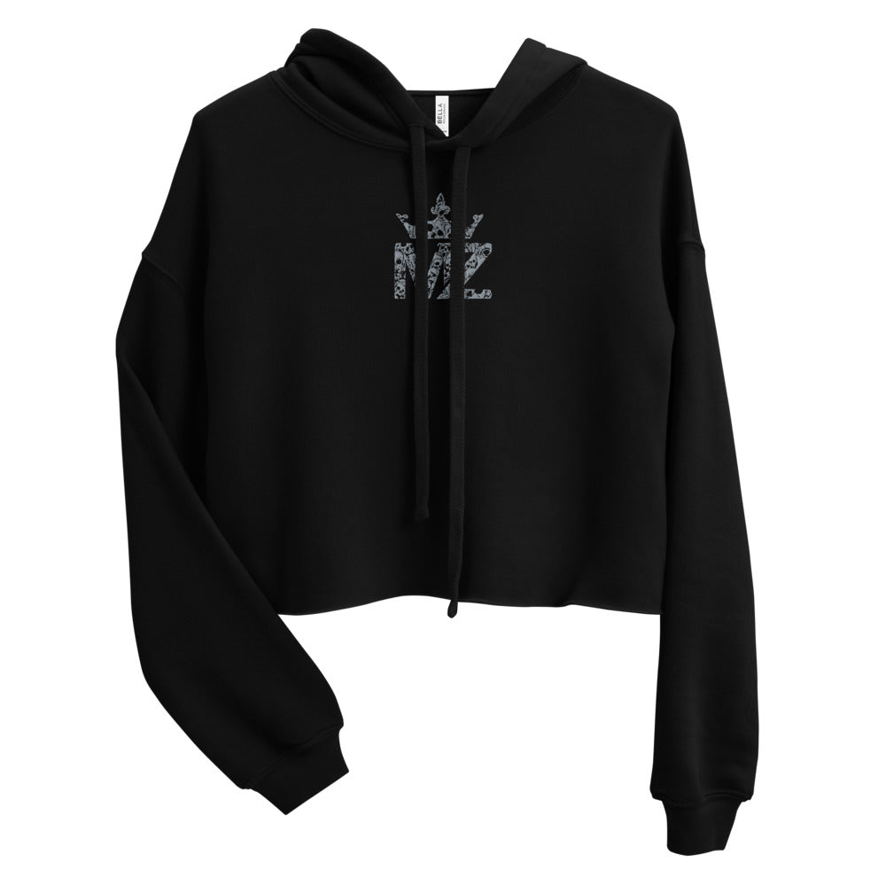 ZAMBADA EMBROIDERED CROPPED HOODIE