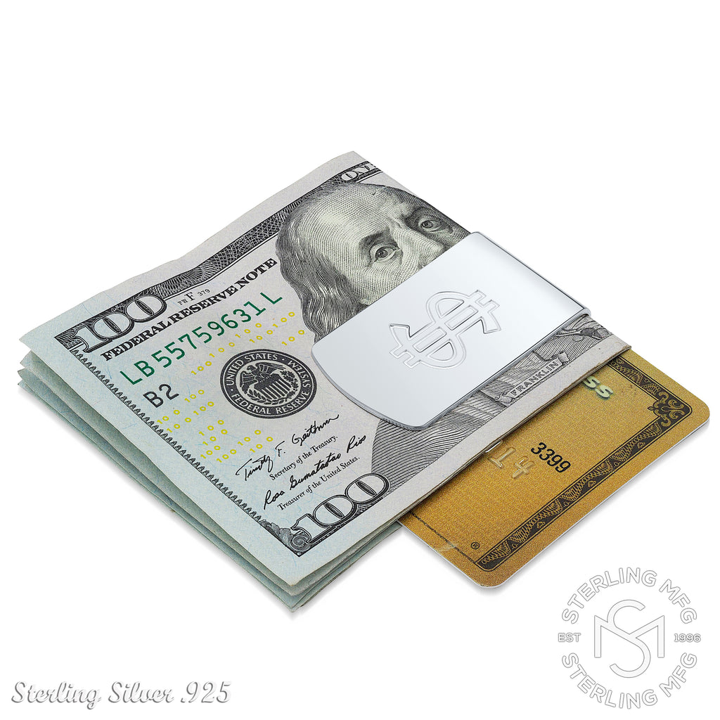 Sterling Silver .925 Dollar Sign Money Clip