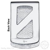 Sterling Silver .925 Greek Key Design Money Clip