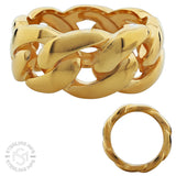 Gold Plated Stainless Steel Cuban Link Eternity Ring