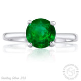 Sterling Silver .925 Green C.Z Ring