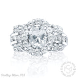 Sterling Silver .925 C.Z Engagement Ring