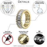 Gold Plated Sterling Silver .925 C.Z Eternity Ring