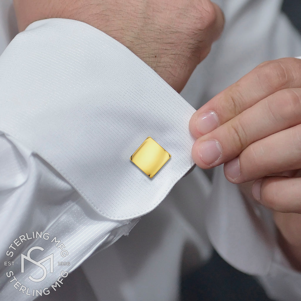 Sterling Silver .925 Square Cufflinks