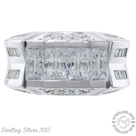 Sterling Silver .925 C.Z Ring Band