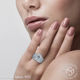 Sterling Silver .925 Round Cut C.Z Duo 2 Piece Ring
