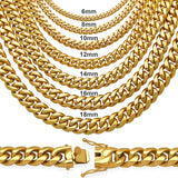 Gold Plated Stainless Steel Cuban Link Chain