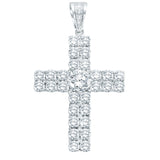 Sterling Silver .925 C.Z Cross Tennis Charm Pendant