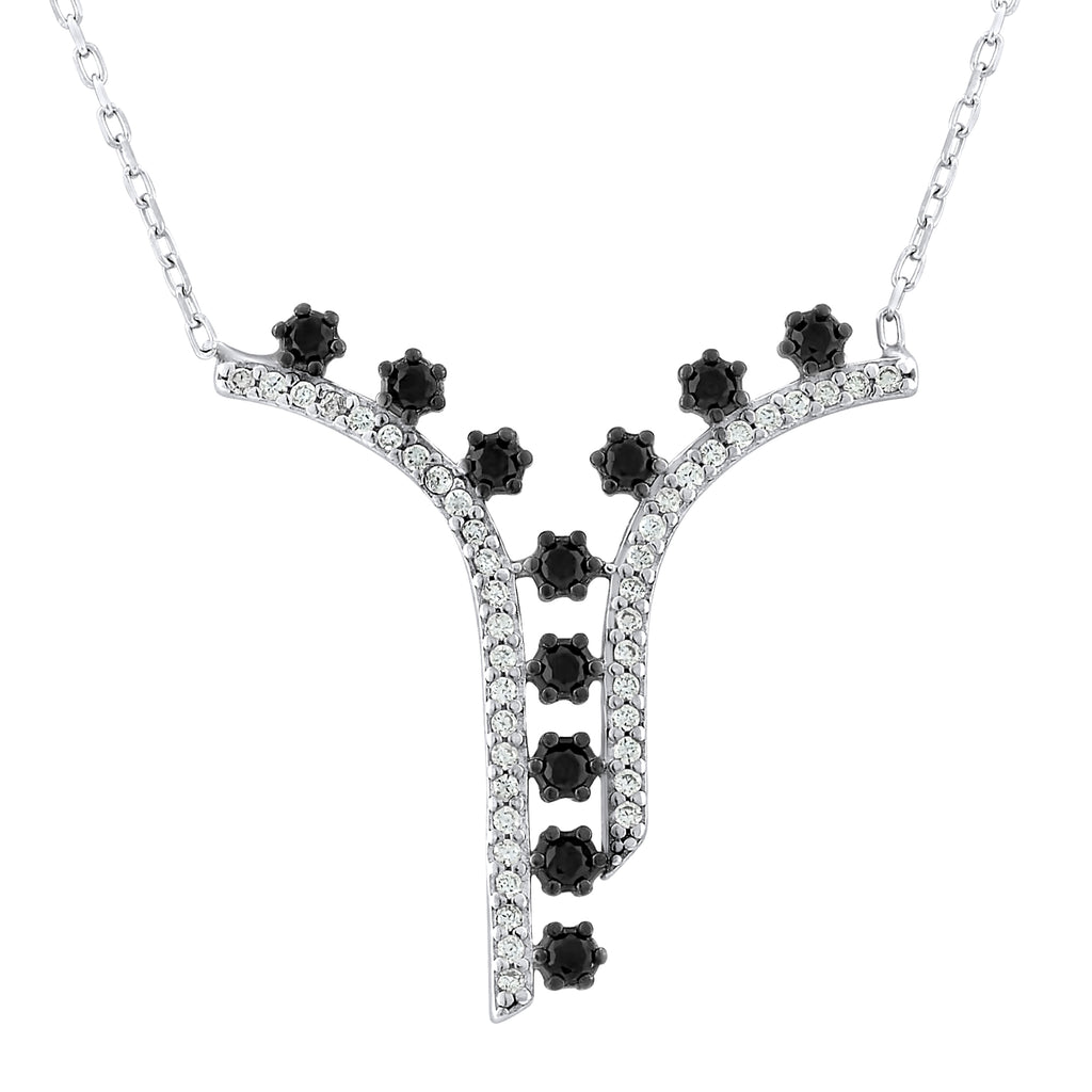 Sterling Silver .925 C.Z Falling Stars Pendant with Chain