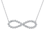 Sterling Silver .925 C.Z Infinity Pendant with Chain