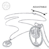 Sterling Silver .925 C.Z Menorah Pendant with Chain