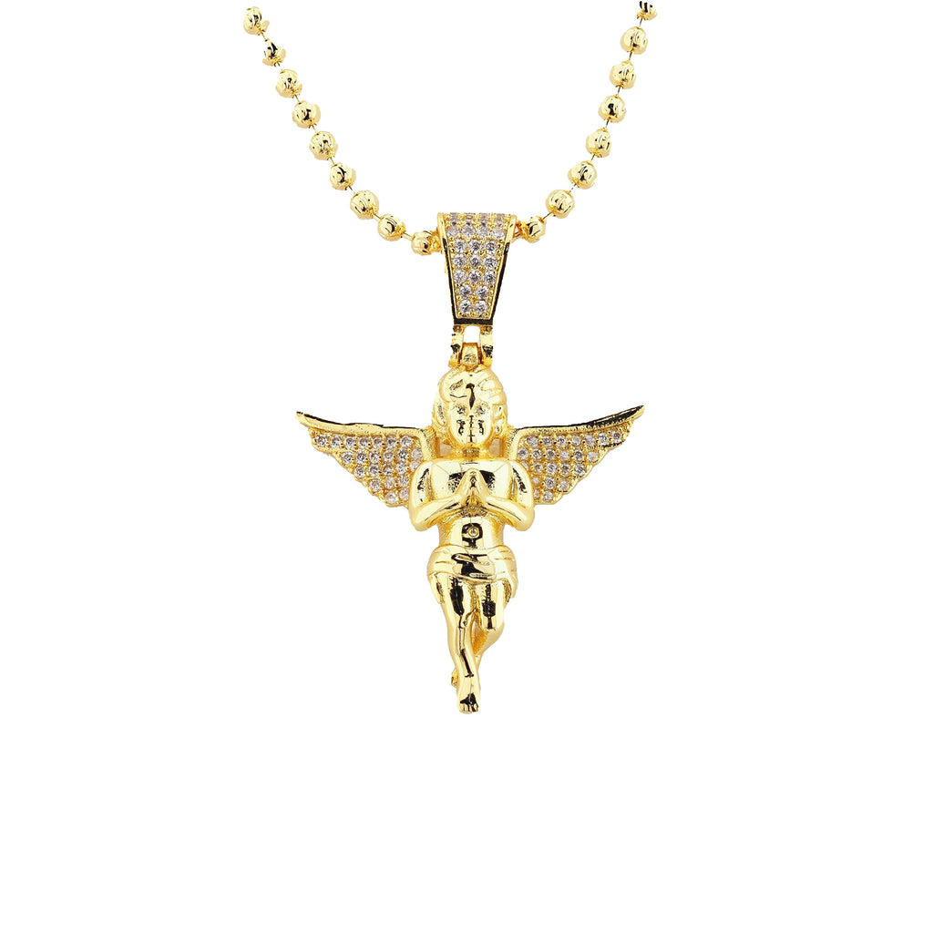 Gold Plated C.Z Angel Charms