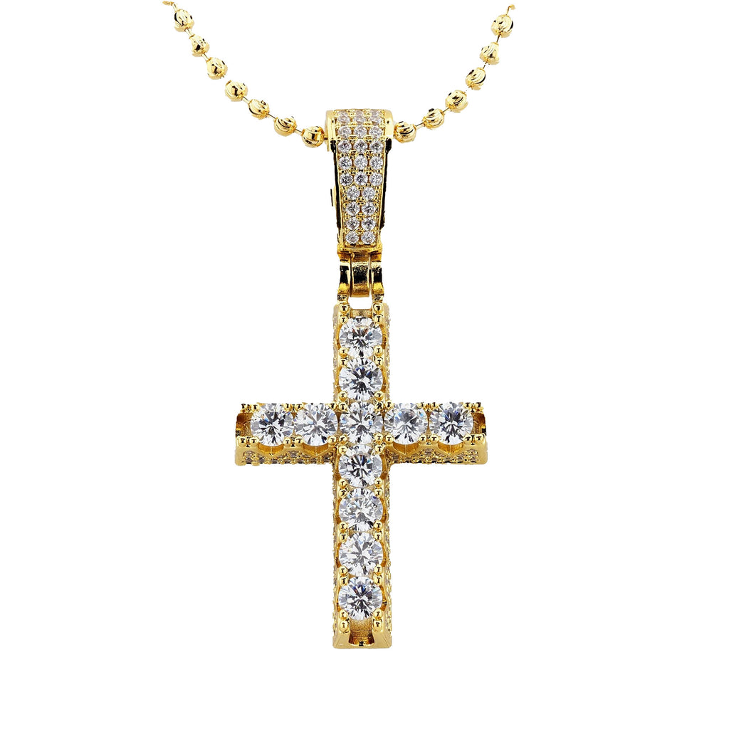 Gold Plated C.Z Cross Charms