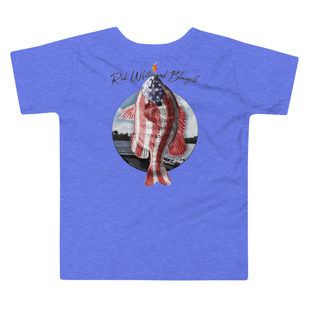 Red, White and Blugill Toddler Tee - Daybreak Apparel Company