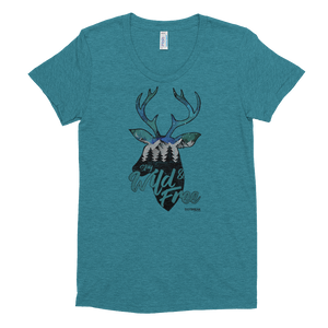 Wild and Free Fitted Tee - Daybreak Apparel Company