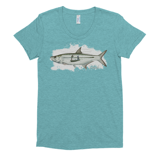 Tarpon on the Fly Ladies Tee - Daybreak Apparel Company