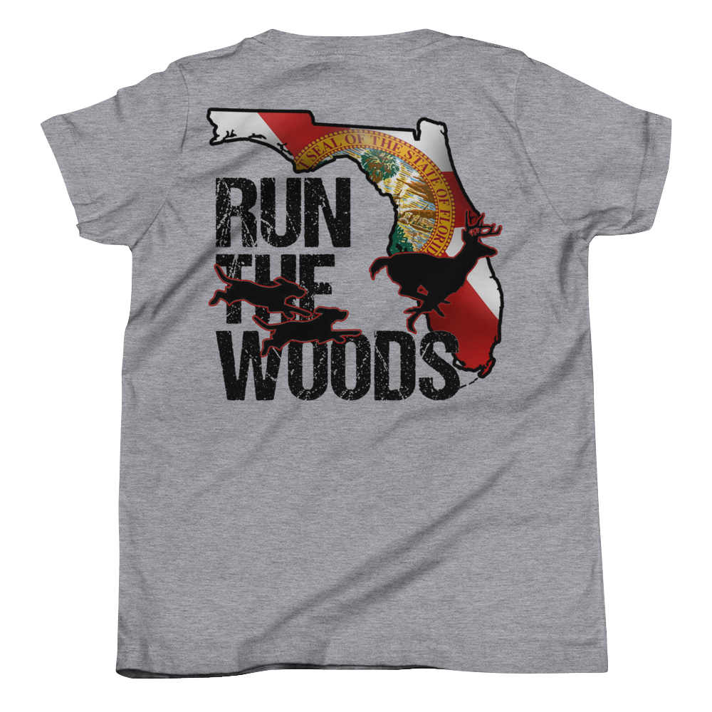 Run The Woods Youth Tee - Florida - Daybreak Apparel Company
