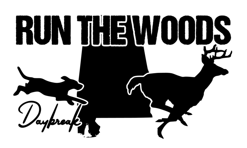 Run The Woods Alabama Decal - Daybreak Apparel Company
