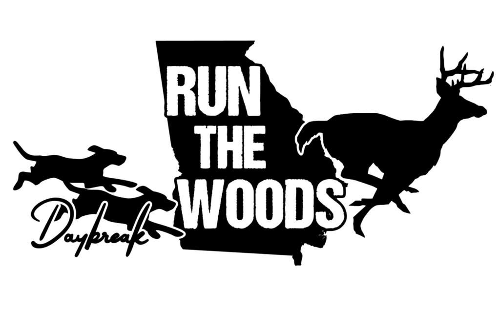 Run The Woods Georgia Decal - Daybreak Apparel Company