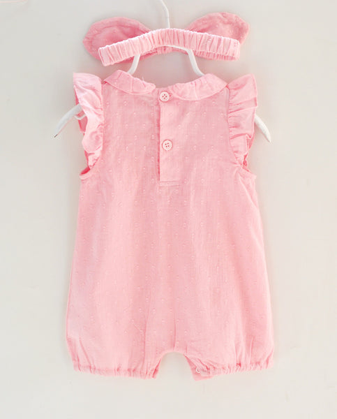 Summer Baby Girl Romper with Headband