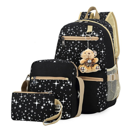 3pcs Kids School Backpack Set