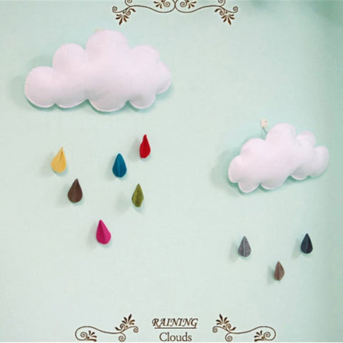 Baby Kids Room Handmade Raining Clouds Water Drop