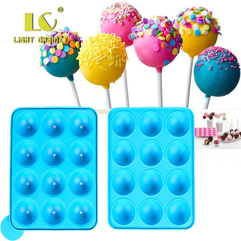 12 Hole Silicone Cake Pop Mold