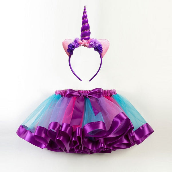 Princess Party Tutu Skirt with Unicorn Headband