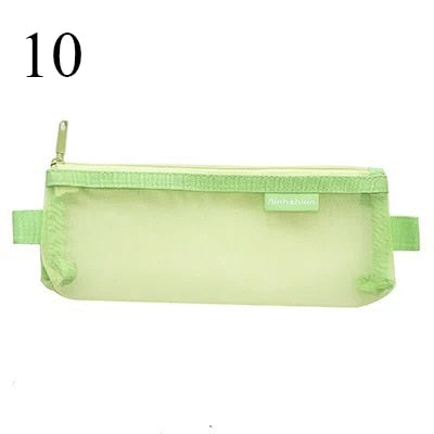 Transparent Mesh Pencil Case