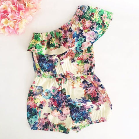 Toddler Girl Floral Off Shoulder Romper