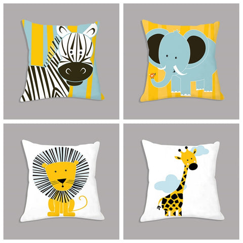 Animal Printed Plush Throw Pillow