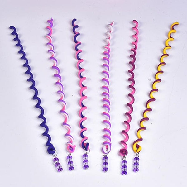 6pcs Rainbow Color Crystal Long Bands