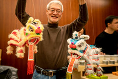 Asia Society Night Market- Tiny Sponge Lion Puppets