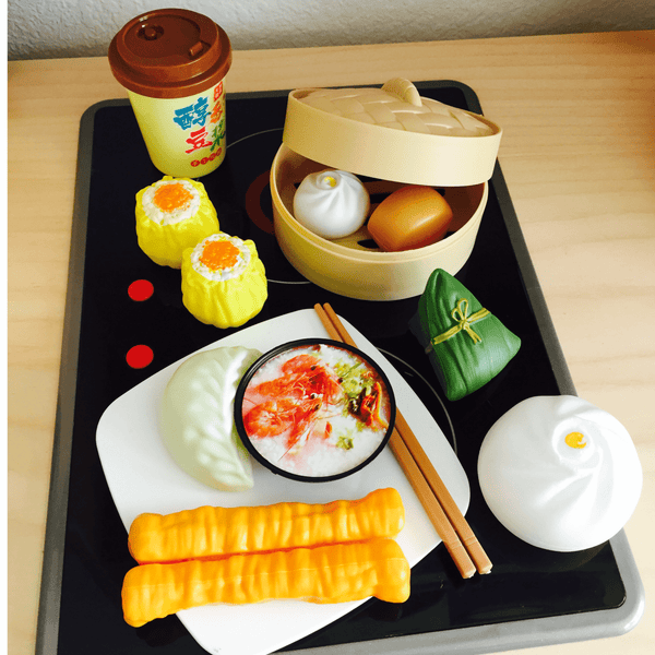 Breakfast Play Food Set: Savory Delights tiny sponge