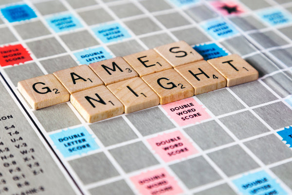 game night scrabble tiles