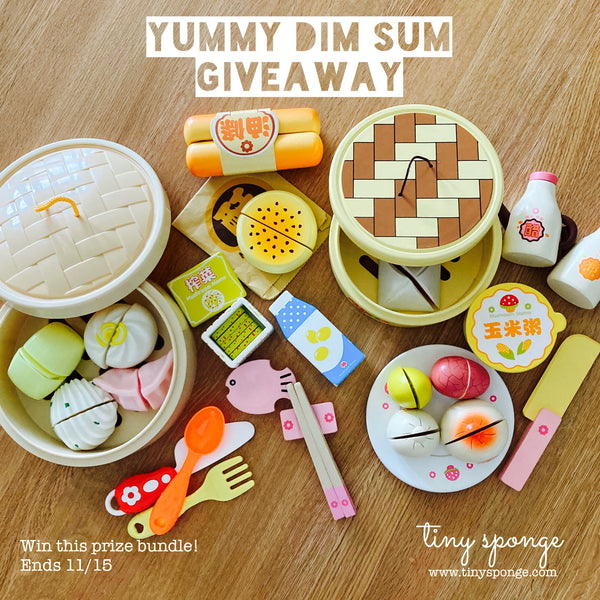 tiny sponge yummy dim sum giveaway prize pack