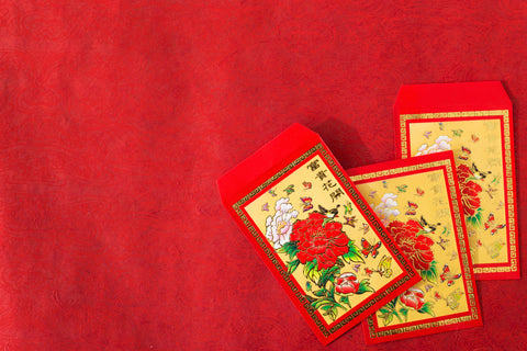 red envelopes tiny sponge