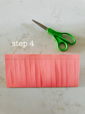 step 4- lantern how to, cut thin strips up to the line