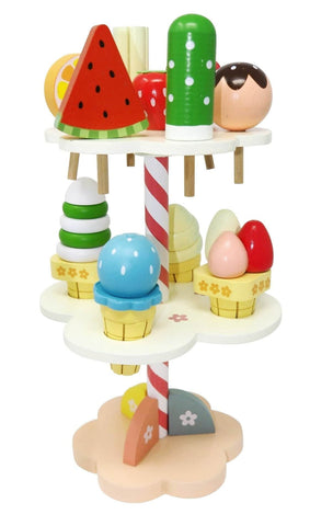 Wooden Magnetic Ice Cream & Popsicle Set