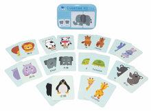 Load image into Gallery viewer, Chinese Bilingual Animal Kids Matching Card Game