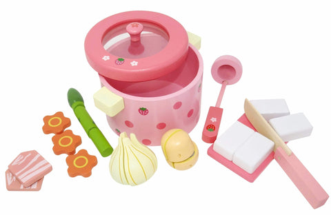 Wooden Hot Pot Set