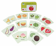 Load image into Gallery viewer, Chinese Bilingual Fruit & Vegetable Kids Matching Card Game