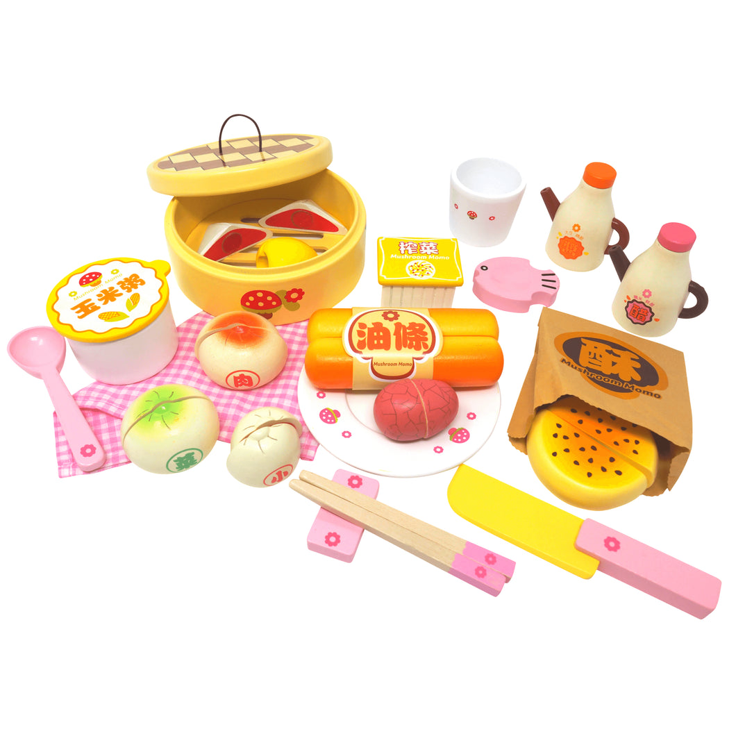 Asian Breakfast Deluxe Wooden Set