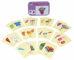 Chinese Bilingual Everyday Household Items Kids Matching Card Game