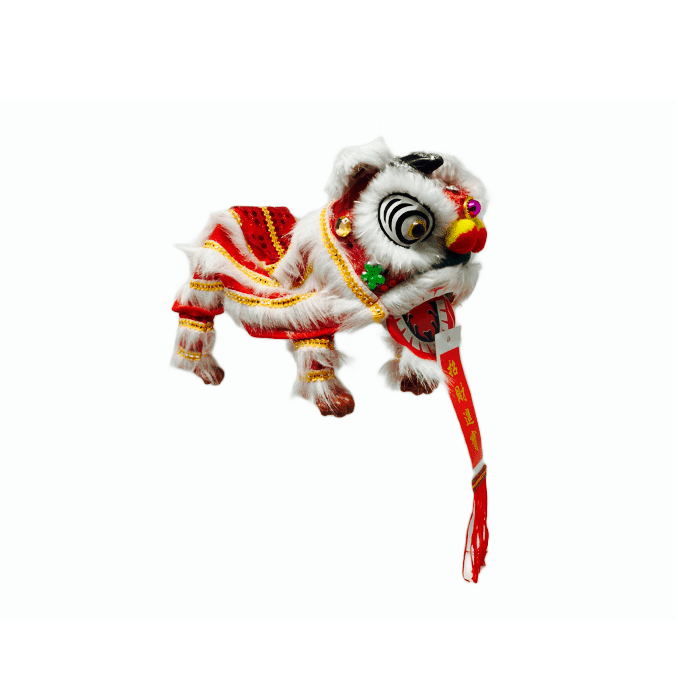 Lion Dance Marionette Puppet - Red/White/Yellow