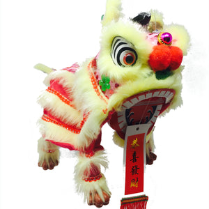 Lion Dance Marionette Puppet - Pink/Yellow