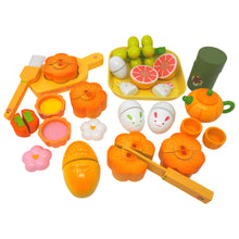 Load image into Gallery viewer, Moon Cake Deluxe Wooden Play Food Set